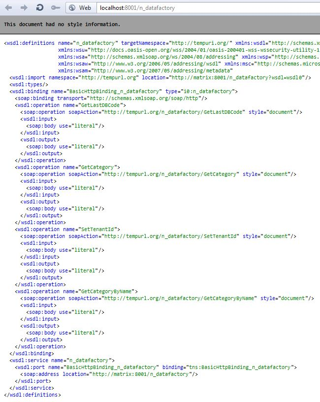Web Service WSDL