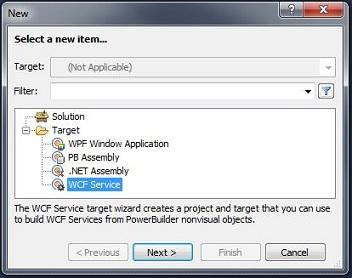 PowerBuilder 12.5 WCF Service Target Creation