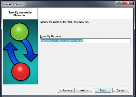 PowerBuilder 12.5 Choose WCF Service Assembly Name